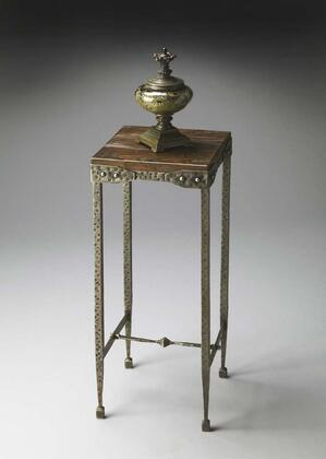 2887120 Mountain Lodge Collection Pedestal Stand in Hammered Pewter