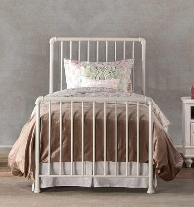 Brandi 2001BQR Queen Sized Bed with Headboard  Footboard and Frame and Spindle Design in White
