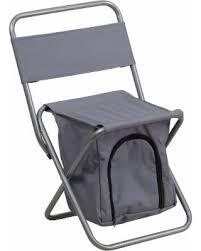 TY1262-GY-EMB-GG Embroidered Folding Camping Chair with Insulated Storage in