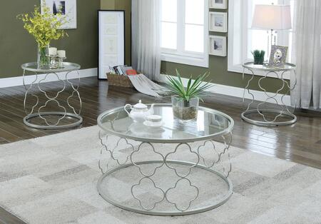 Carys Collection CM4159-3PK 3-Piece Living Room Table Set with Coffee Table and 2 End Tables in