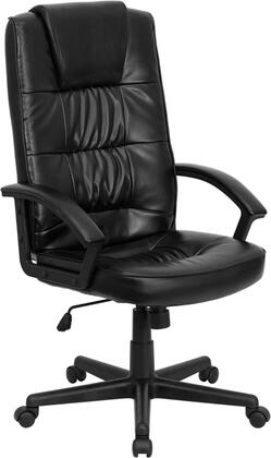 GO-7102-GG High Back Black Leather Executive Office