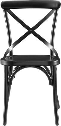 DS-D068 19.5 inch  Metal Dining Chair with All-Metal Construction and Classic 'X' Back Style in Distressed Antique