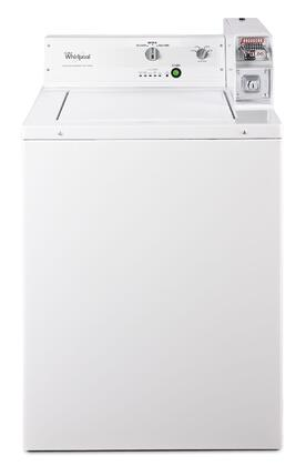 "Commercial White Top Load Laundry Pair with CAE2743BQ 27"""" Washer and CGM2743BQ 27"""" Gas"" 344849"