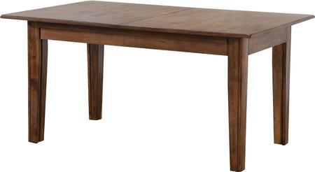 """DLU-BR134-AM_Simply_Brook_Collection_62""""_Extendable_Dining_Table_with_Tapered_Legs__Rectangular_Shape__Wood_Veneer_and_Distress_Details__in"""