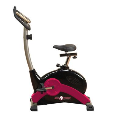 BFUB1 Best Fitness Upright Bike with LCD Display and Transport Wheels  Up to 8 Levels of