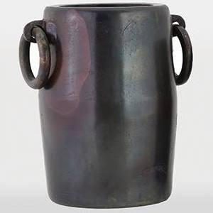 VAS054 Brienne Vase I Aluminum Vase in Raw Cobolt