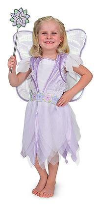 4786 Fairy Role Play Set with Sparkling Wings  Sparkling Wand  Velvety Bodice  Flower-embellished Waistband and Tulle Petal