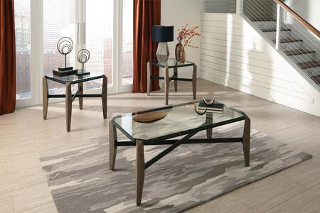 Home Accents Collection 720948SET 3 PC Living Room Table Sets with Coffee Table + 2 End Tables in Rustic