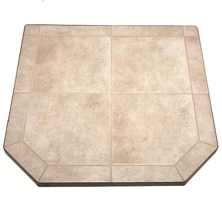 """HS48DLCT2 48"""" Tile Hearth Pad Type 2 with 1.5"""" Heavy Duty Steel Frame non combustable Substrate Can be Used with any Wood or Pellet Stove and in"""
