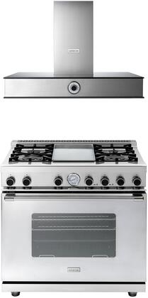 2-Piece Stainless Steel Kitchen Package with RN362GCSS 36 inch  Freestanding Natural Gas Range