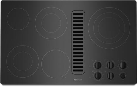 JED3536WB 36 inch  Electric Radiant Downdraft Cooktop with 5 Elements  Ceramic Glass Surface  475 CFM Blower  and Hot Surface Indicator Light  in