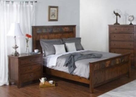 Santa Fe Collection 2334DCQBBEDROOMSET 2-Piece Bedroom Set with Queen Bed and Nightstand in Dark Chocolate