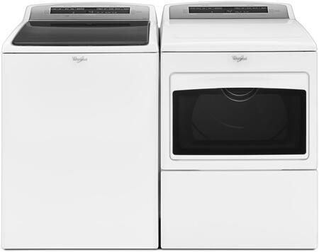 "White Top Load Laundry Pair with WTW7500GW 27"""" Top Load Washer and WGD7500GW 27"""" Gas"" 844481"