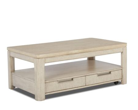 Monterey Collection 628-819-CTBL 48 inch  Cocktail Table with Bottom Shelf  Two Drawers and Recessed Hardware Pulls in White Washed