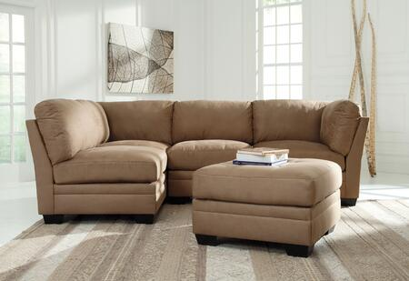 Iago 65105-51(2)-46(2)-08 2-Piece Living Room Set with 4PC Modular Sectional Sofa and Oversized Accent Ottoman in