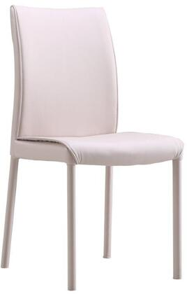 LS-404-B 35 inch  Dining Chair with Metal Base Frame and Fire-Resistant Eco-leather Upholstery in