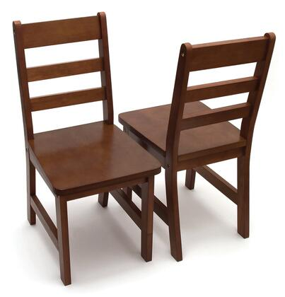 523/4WN Set of Two Children's Chairs in Walnut