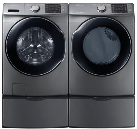 Platinum Front Load Laundry Pair with WF45M5500AP 27