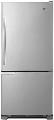 69313 30 Bottom Freezer Refrigerator with 18.67 cu. ft. Total Capacity  Humidity Controlled Crispers  Adjustable Door Bins and Adjustable Spill