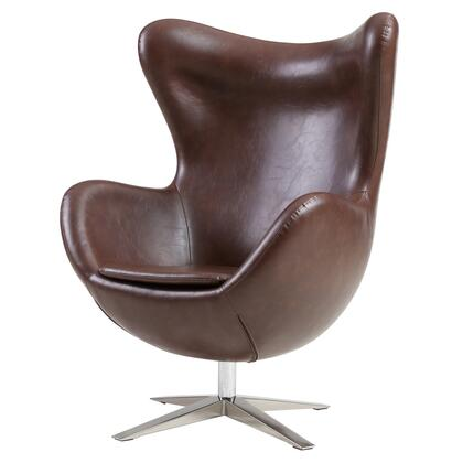 Max Collection 453043P-D5-CH Rocker Chair with Chrome Legs  360 Degree Swivel and PU Upholstery in Distressed