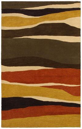 Panpr814600752608 Pandora Pr8146-26 X 8 Hand-tufted Hard + Fine-twist New Zealand Wool Blend Rug In Rust  Rectangle