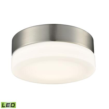 FML4025-10-16M Holmby 1 Light Round Flushmount In Satin Nickel With Opal Glass -