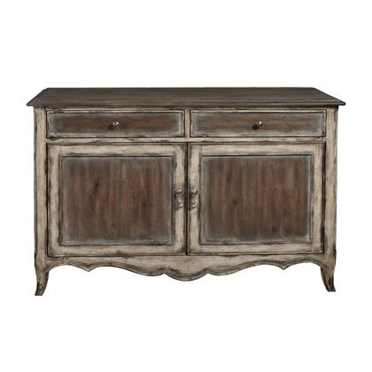 D153042 Country Inspired Distressed Two Door Accent Storage Console In