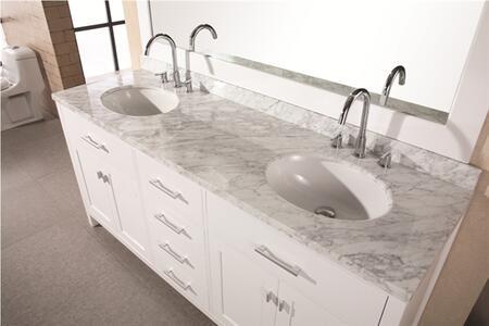 DEC076B-W London 72 inch  Double Sink Vanity Set in