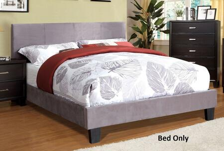 Winn Park Collection CM7008GF-F-BED Full Size Platform Bed with English Style Headboard  European Style Slat Kit  Solid Wood Construction and Fabric Upholstery