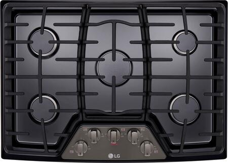 LCG3011BD 30 inch  Gas Cooktop with 5 Burners  in Black Stainless