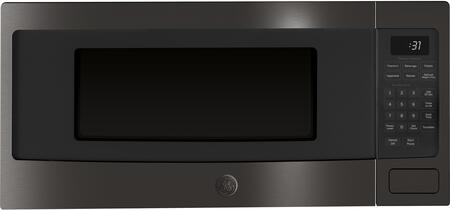 GE Profile PEM31BMTS 24 Inch 1.1 cu. ft. Capacity Countertop Microwave, in Black Stainless Steel