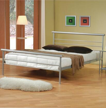 300181Q Coaster Stoney Creek Queen Iron Bed in Silver Metal