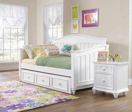 Summertime 846674041btn 3 Pc Bedroom Set With Day Bed + Nightstand + Trunde Storage Unit In White