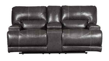 McCaskill Collection U6090096 79 inch  Power Reclining Loveseat with Console  Leather Match Upholstery  Extra Wide Seats and Split Back in