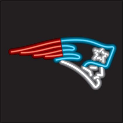 27-6011 New England Patriots Neon Sign With Standard 110 Volt Plug & Ten Foot Power