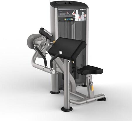 E-4980 Platinum Series 9503 Arm Curl Machine with 150 lbs. Incremental Weight Stack  Military Grade Cables and High-Tech Oval Tubing in Black and