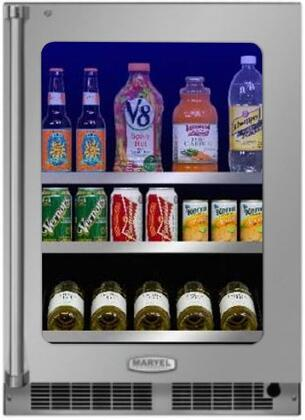 Marvel MP24BC4R 24 Wide 19-Bottle and 108-Can Built-In Wine and Beverage Cooler, Stainless Frame Glass Door