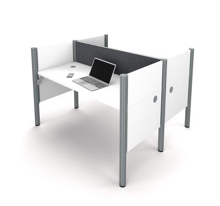 100870CG-17 Pro-Biz Double face to face workstation in White with Gray Tack