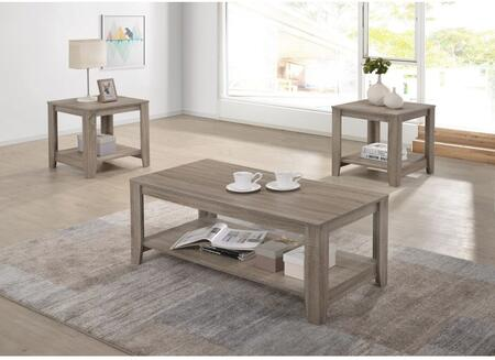 Barry T177-01-2ET 3-Piece Living Room Table Sets with Cocktail Table and 2 End Tables in Dark