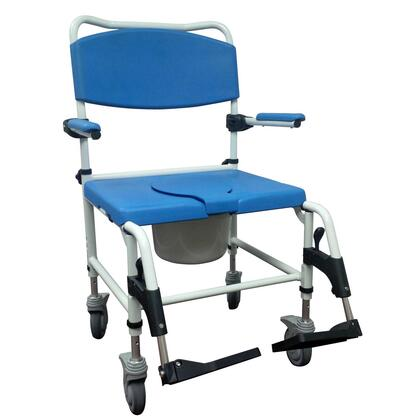nrs185008 Aluminum Bariatric Rehab Shower Commode Chair