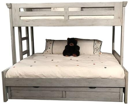 Stonebrook Youth 7820-TFLB-906 Twin Over Full Loft Bed and Trundle with Molding Details  Distressed Detailing and Veneer Construction in Antique
