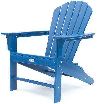 Hampton LUX-1518-NAVY Outdoor Patio Adirondack Chair with 250 lbs. Weight Capacity  Wide Seating and Recycled High Density Polyethylene Construction in
