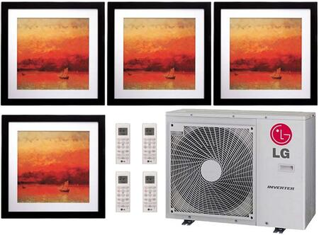 LMU36CHVPACKAGE31 Quad Zone Mini Split Air Conditioner System with 39000 BTU Cooling Capacity  4 Indoor Units  and Outdoor 704495