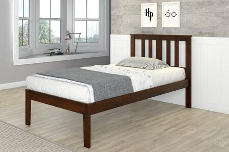 625TCP Venice Twin Bed With Full-Slats-Mattress Ready:
