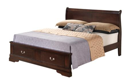 G3125D-FSB2 Full Size Storage Bed with Bracket Legs  Dove Tail Drawers  Molding Details and Decorative Hardware  in