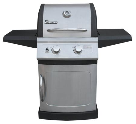 42202 Falcon Gas Grills with 2 Burners  304 Stainless Steel Material  Cooking Grates  Fixed Casters and Folding Steel Side Shelves in Stainless 626500