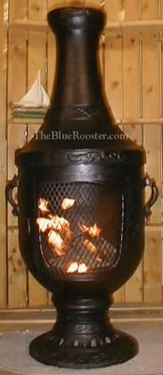 ALCH026CHGKLP Gas Powered Venetian Chiminea Outdoor Fireplace in Charcoal - Liquid