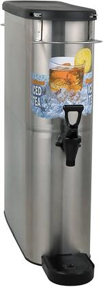 """396000002 Oval Style Narrow Iced Tea and Coffee Dispenser with 4 Gallon Capacity  Drip Tray  8"""""""" Cup Clearance  Solid Lid  Front - Back Handles  Full-Color Iced"""" 741902"""