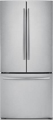 """RF220NCTASR 30"""" French-Door Refrigerator with 22 cu. ft. Capacity  High Efficiency LED Lighting  5 Spill-Proof Tempered-Glass Shelves  Energy Star Rated and"""