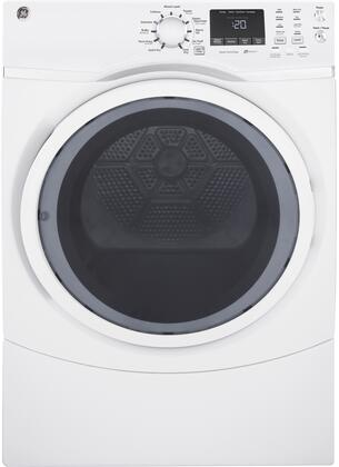 "GFD45GSSKWW 27"""" Front Load Gas Dryer with 7.5 cu. ft. Capacity  HE Sensor Dry  13 Dry Cycles  Sanitize Cycle  Extended Tumble  Quick Dry Cycle  in"" 810577"